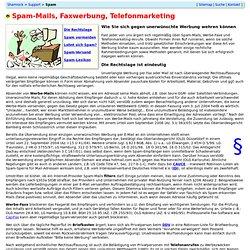 Spam: Mail- und Fax-Werbung