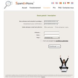 SpamEnMoins : inscription