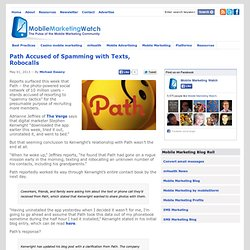 Path Accused of Spamming with Texts, Robocalls