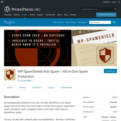 WP-SpamShield Anti-Spam – All-in-One Spam Protection — WordPress Plugins