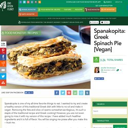 Spanakopita: Greek Spinach Pie [Vegan]