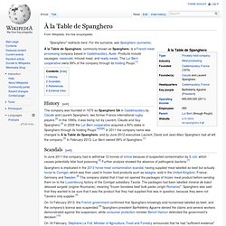WIKIPEDIA – A la table de Spanghero.