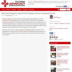 Global Voices Advocacy » Spaniard bloggers react to the Google-Verizon proposed policy