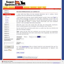 Spanischkurs - Lektion 2 - Einführung - super-spanisch.de