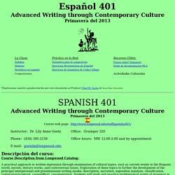 Spanish 401 Advanced Grammar and Composition