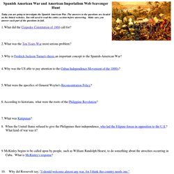 Spanish American War Webquest