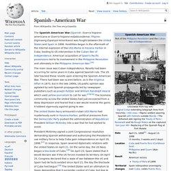 Spanish–American War - Wikipedia