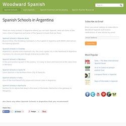 Spanish Schools in Argentina