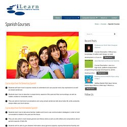 Spanish Courses « I Learn