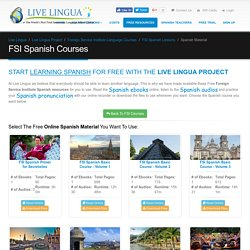 FSI Spanish Courses - Free Spanish Lessons Online