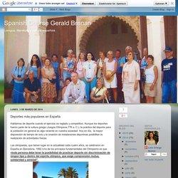 Spanish Course Gerald Brenan: Deportes más populares en España