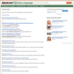 Spanish Word Lists - Expand Your Spanish Vocabulary