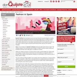 Spanish Fashion - Models, Brands & Designers from Spain