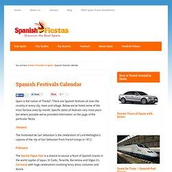 Spanish Festivals Calendar