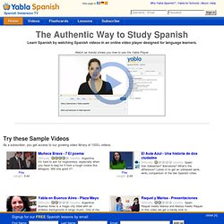 Yabla Spanish - Spanish Immersion TV