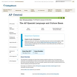 The AP Spanish Language and Culture Exam