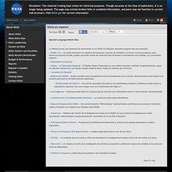 Spanish Language NASA Sites