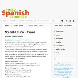 Amusing Spanish Idioms