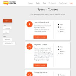 Spanish Audio lessons and podcasts
