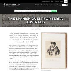 The Spanish quest for Terra Australis