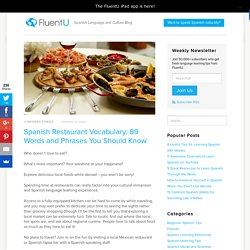 Spanish Restaurant Vocabulary: 89 Words and Phrases You Should Know