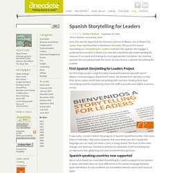 Spanish Storytelling for Leaders now available