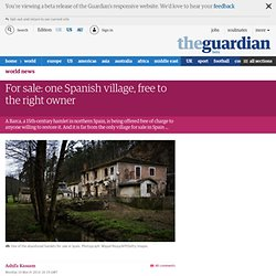 For sale: one Spanish village, free to the right owner