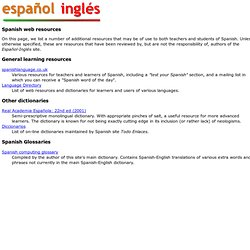 Spanish web resources