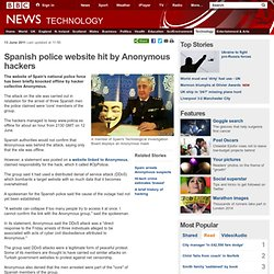 Spanish police website hit by Anonymous hackers