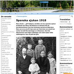 Spanska sjukan 1918 - SkogMark.seSkogMark.se
