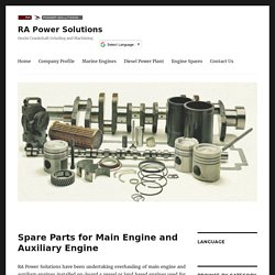 Spare Parts for Main Engine and Auxiliary Engine