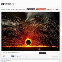 sparkle long exposure circle photo