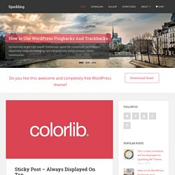 Sparkling - Free flat design WordPress theme developed using Bootstrap 3 and is well suited for blogs, portfolio, design, photography and other creative websites