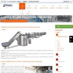 Complete Water Sparkling Lines Solutions