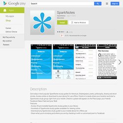 SparkNotes - Android Apps on Google Play