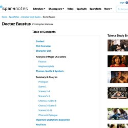 SparkNotes: Doctor Faustus