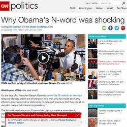 Obama's 'N' word sparks debate - CNNPolitics.com