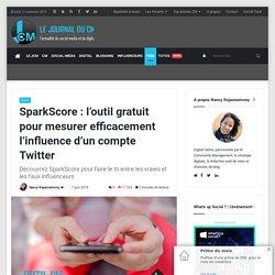SparkScore : Un outil gratuit pour mesurer l'influence d'un compte Twitter
