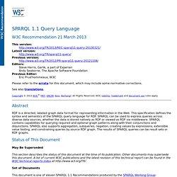 SPARQL 1.1 Query Language