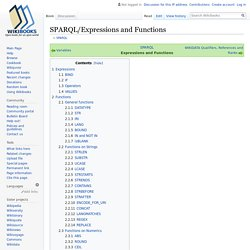 SPARQL/Expressions and Functions