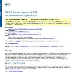SPARQL Query Language for RDF