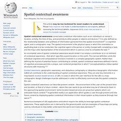 Spatial contextual awareness