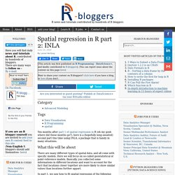 Spatial regression in R part 2: INLA