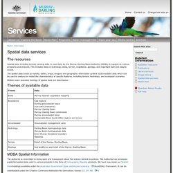Spatial data services | Murray-Darling Basin Authority