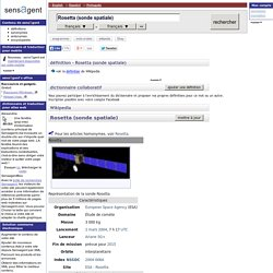 Rosetta (sonde spatiale) : définition de Rosetta (sonde spatiale) et synonymes de Rosetta (sonde spatiale)