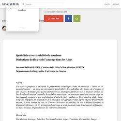 Spatialités et territorialités du tourisme
