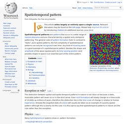 Spatiotemporal pattern - Wikipedia