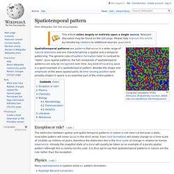 Spatiotemporal pattern - Wikipedia