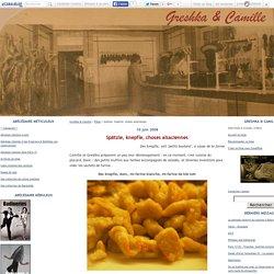 Spätzle, knepfle, choses alsaciennes - Greshka & Camille