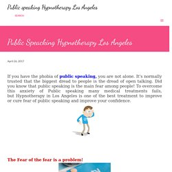 Public Speacking Hypnotherapy Los Angeles